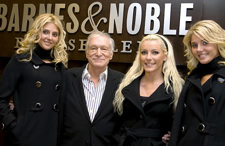 Hugh Hefner adds third girlfriend