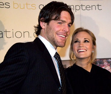 Carrie Underwood y Mike Fisher organizando los planes de boda
